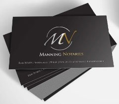 Manning Notaries Business Card